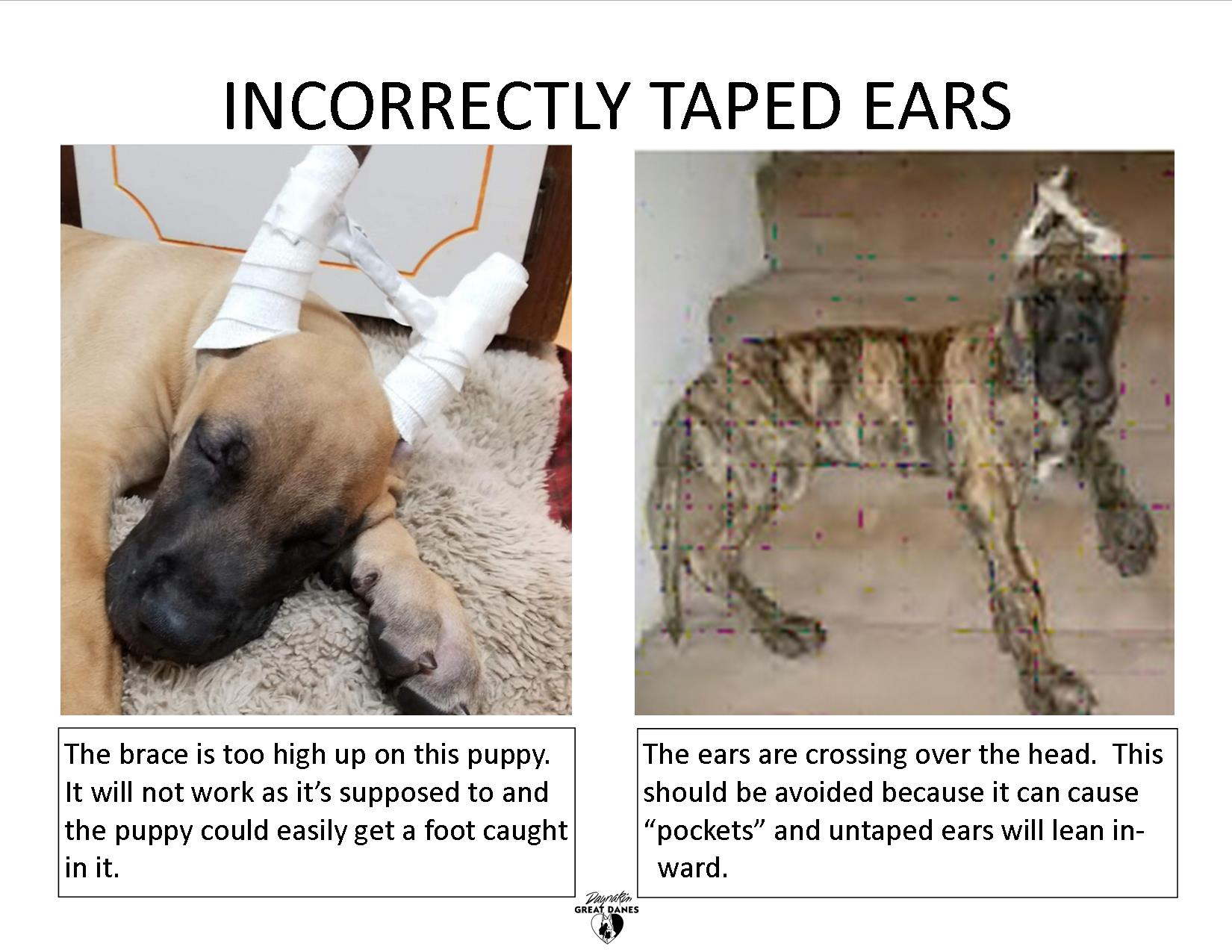 Incorrectly tapes ears